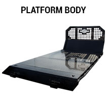 Platform body, perfect for hauling large equipment