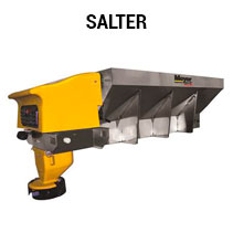 Salt spreader truck attachment